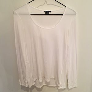 Theory Long Sleeve Scoop Neck T-Shirt
